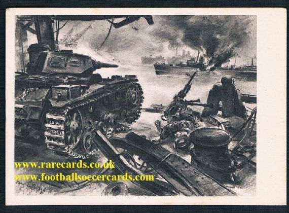 1941 WW2 war art Panzer III British ship pc Spain